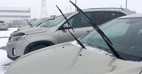 Heated wiper blades are designed to work with the existing vehicle defroster systems to provide an unobstructed view for safer driving in all weather conditions.