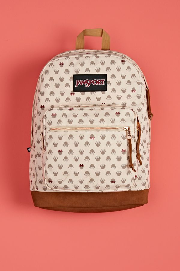 Introducing the first ever collaboration between Disney and JanSport. Shop the Disney Luxe Minnie Right Pack backpack at select retailers and jansport.com