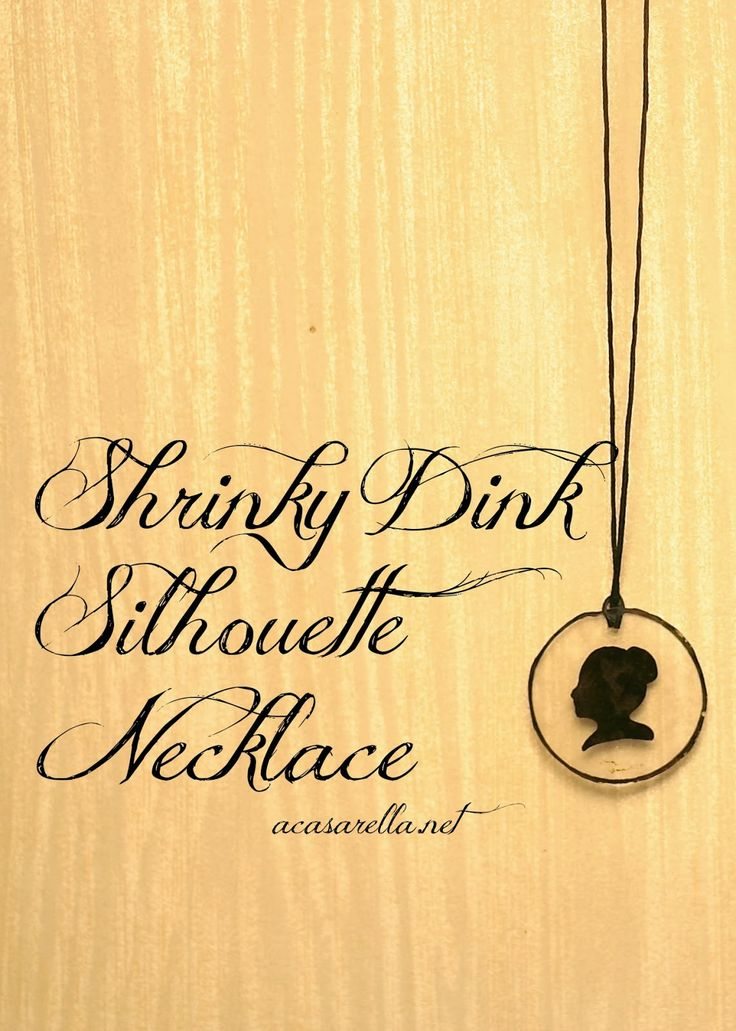 'A Casarella: Shrinky Dink Silhouette Jewelry.  Super easy!  Would make a great gift for Mother's Day.: Crafts For Kids, Idea, Shrinkydink, Jewelry Making For Kids, Great Gifts, Kids School Learning, Gifts For Mom