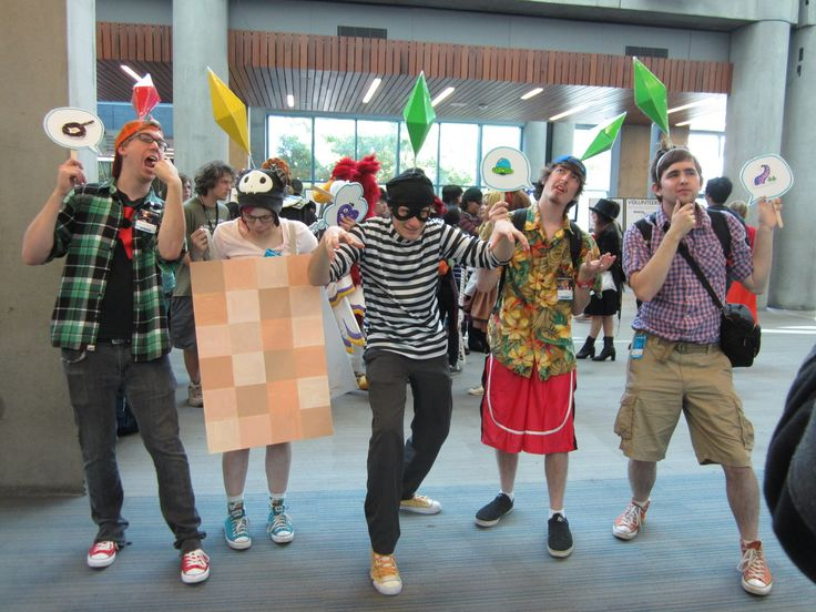 The Sims cosplay haha this is great! potential Comic Con costume?!