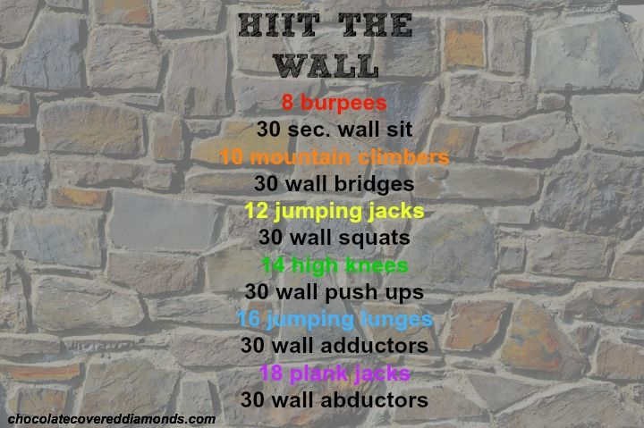 hiitthewall rainy day workout!