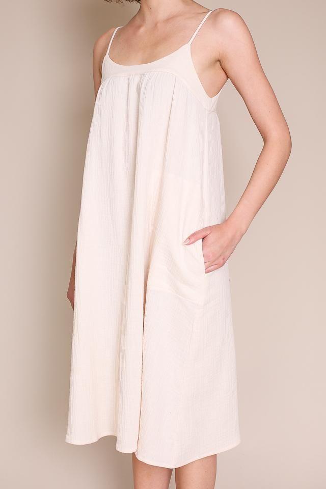 54a6851373 Ursa Minor - Laurel Dress in Ivory – Vert   Vogue