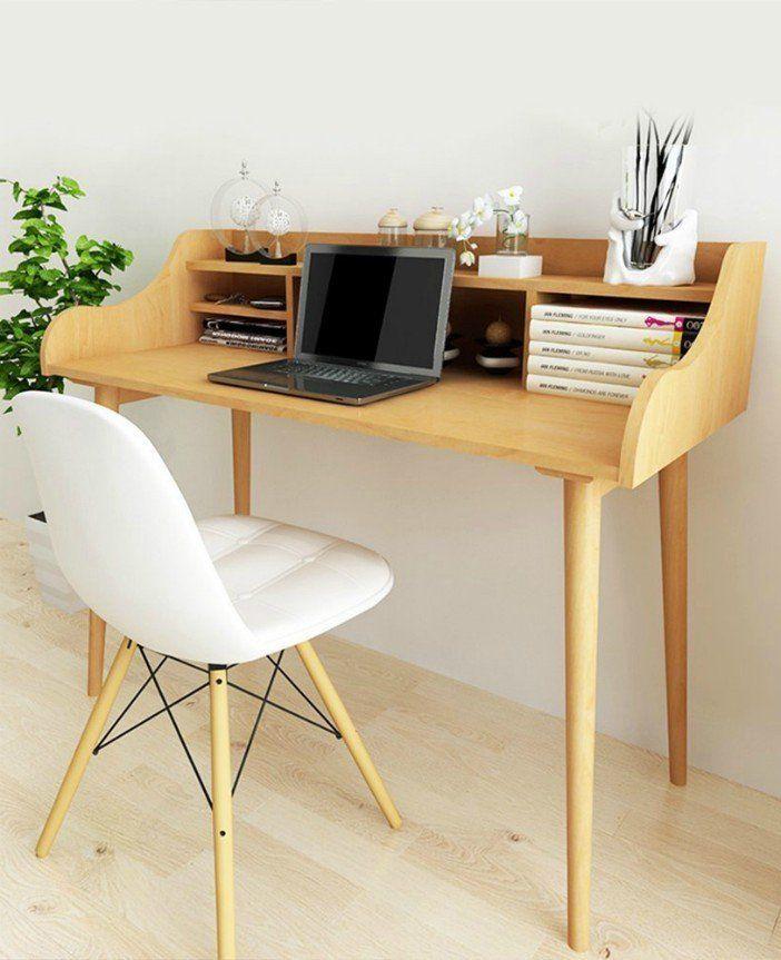 Ten Trendy Desks With Built In Storage Solid Wood Desk Built In Storage Mid Century Desk