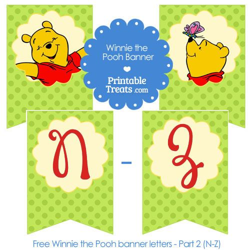17 Best Images About Winnie The Pooh Party Printables On