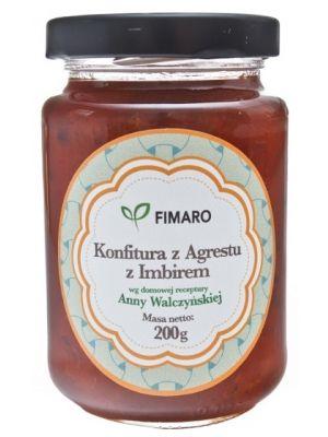 Konfitura z agrestu z imbirem  • polski produkt • wysokiej jakości owoce • bez konserwantów • unikalna receptura