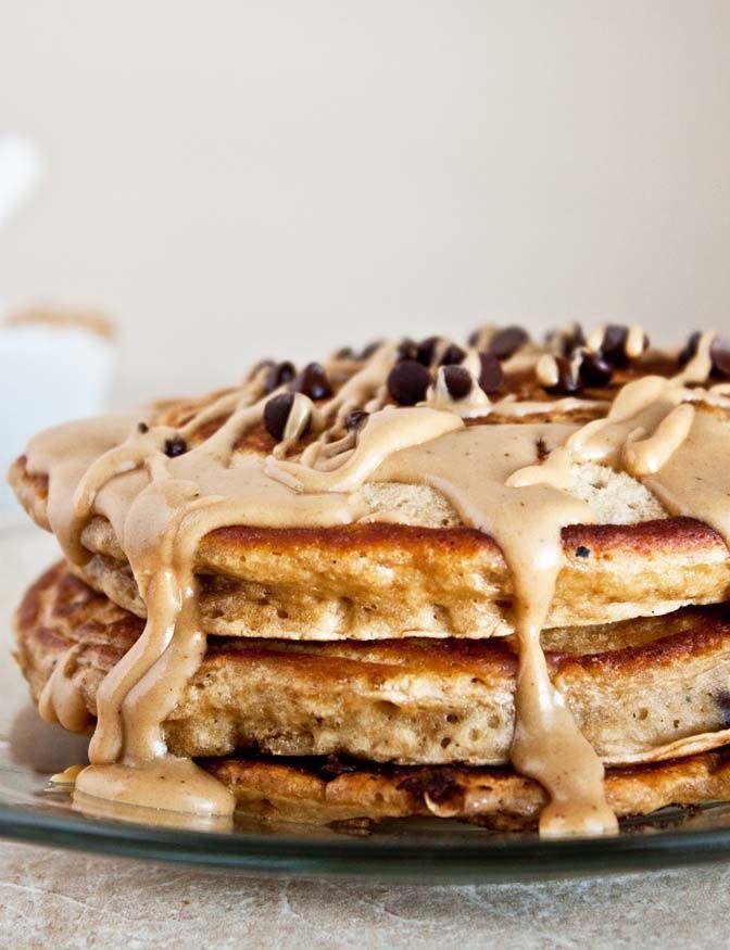 Espresso Chip Pancakes @DessertForTwo