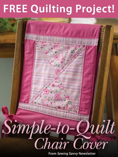Simple to Quilt Chair Cover