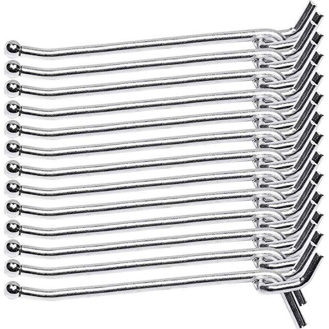 Pegboard Hooks 100-packs J Shape Peg Hooks Black Peg Hook Assortment for Garage