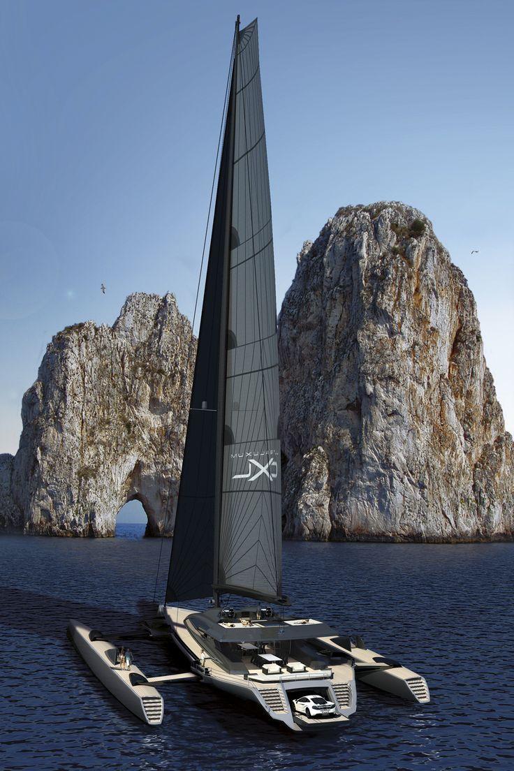 UltraLuxum 48-metre CXL Trimaran Concept.