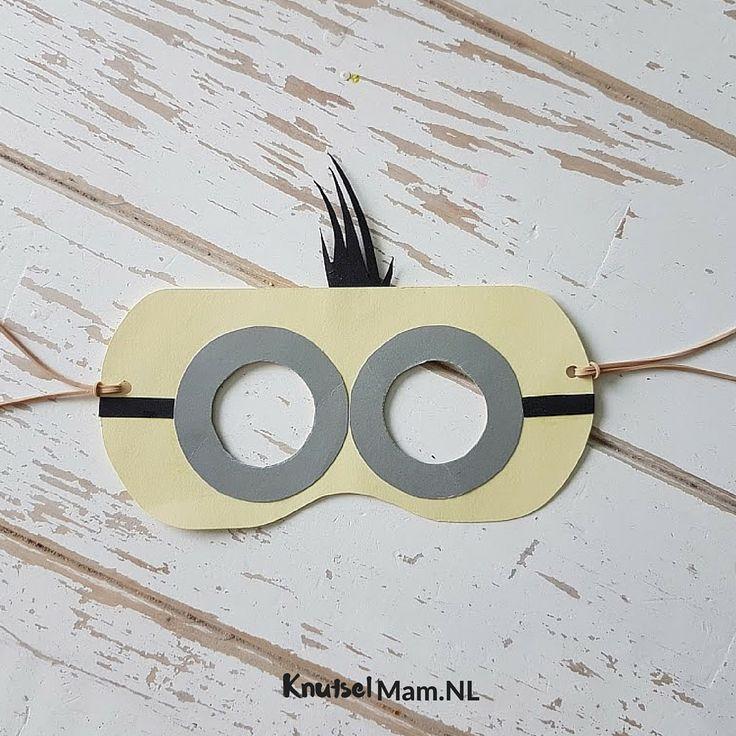 Masker maken minion KnutselMam.Nl