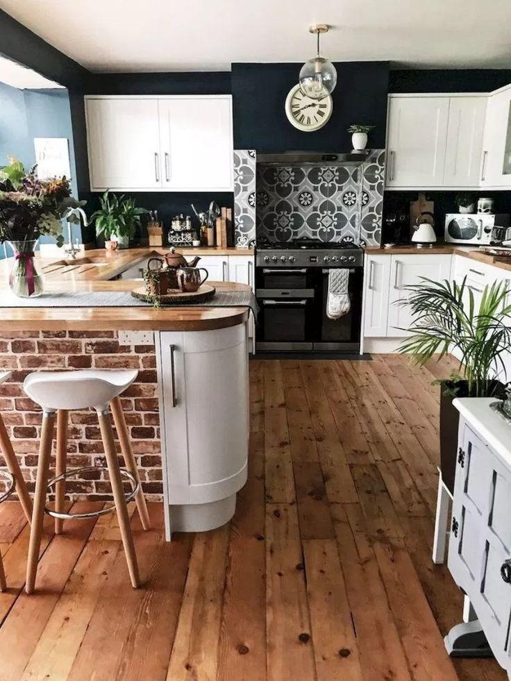 √65 Fette Muster und organische Materialien schaffen ein unvergessliches Küchendesign #kitchendesign #kitchenideas #kitchen #patterns | Glebem
