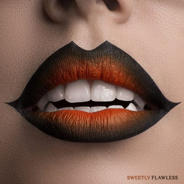 WITCH OR VAMPIRE LIP MAKEUP FOR HALLOWEEN
