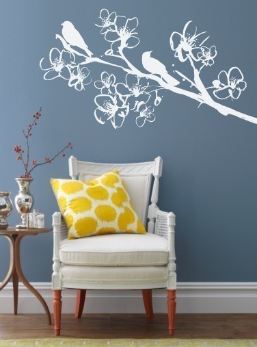 Love this wall decal and the color of the wall