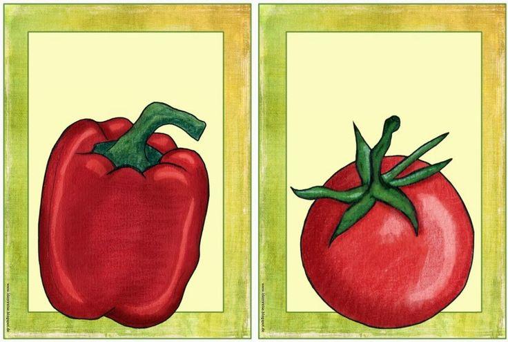 Flashcards für Gemüse  Als Ergänzung zu den Obst- Flashcards folgen nun die Flashcards  zum Gemüse. Die Auswahl richtet sich natürlich wied...