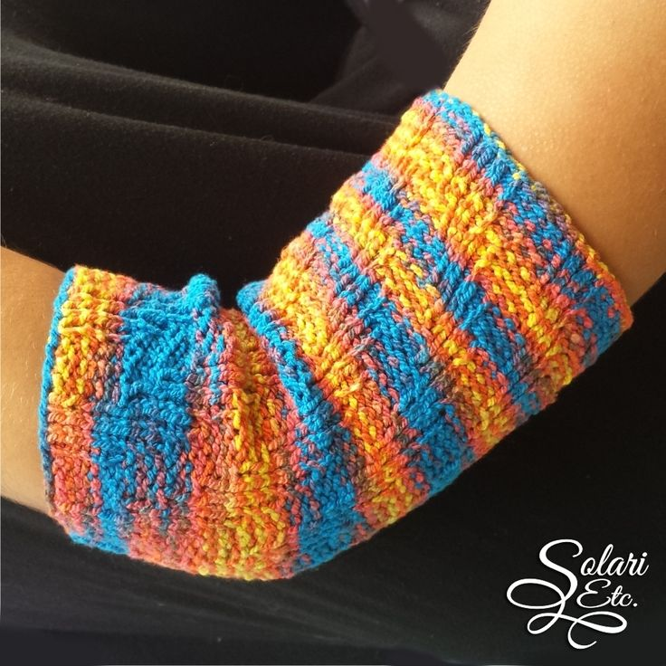 Stretchy & Colorful PICC Line Cover - spiral knit - from tube sock patter...