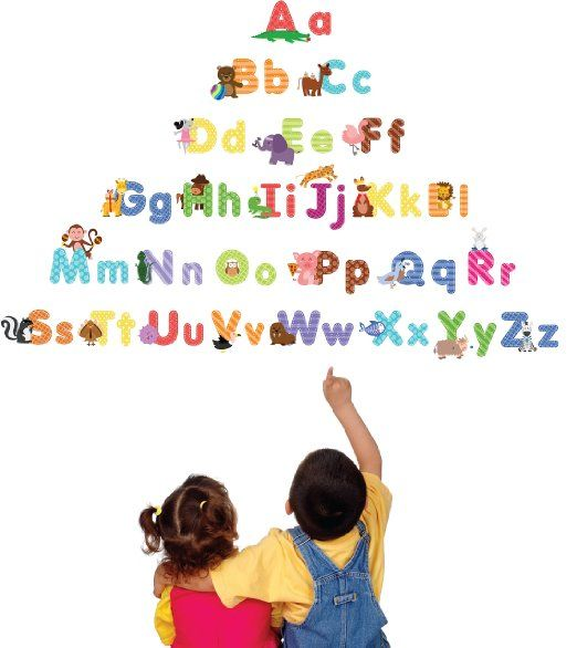 Amazon.com: Animal Alphabet Wall Decals - Fun and Educational Letters for Nursery and Kids Rooms - Easy Peel Stickers: Home & Kitchen