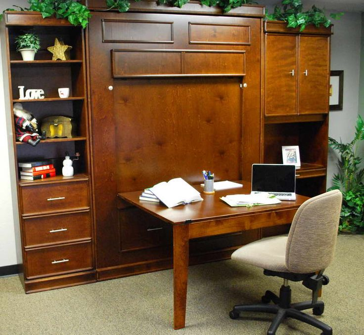 Diy Murphy Bed With Desk Google Search Den Home Office