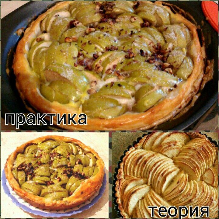 К яблокам, кроме сахара, добавлен яичный белок и грецкие орехи.
