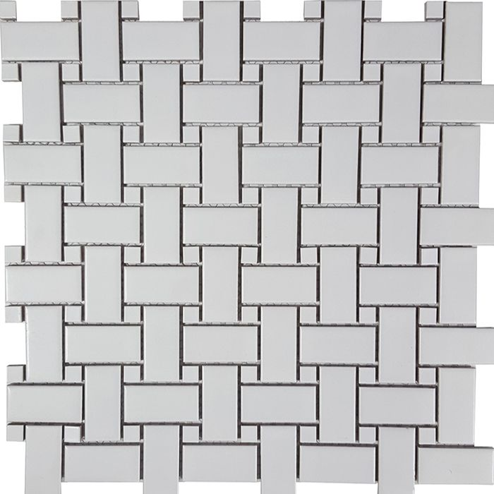 Check out the deal on Tesoro Solid White - Staggered Glossy 2x4 Mosaic at GBTile Collections