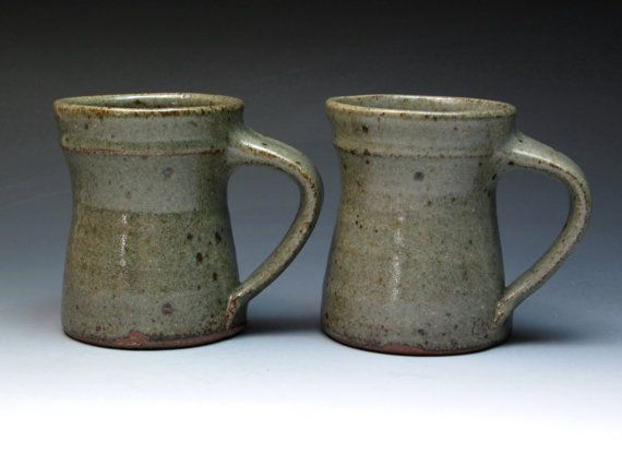 Jeff Oestreich 1970's Transitional Stoneware Mugs by MugsMostly