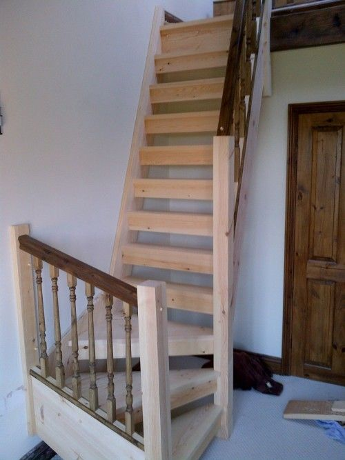 65 best cabin stairs images on pinterest for Pre built stairs interior