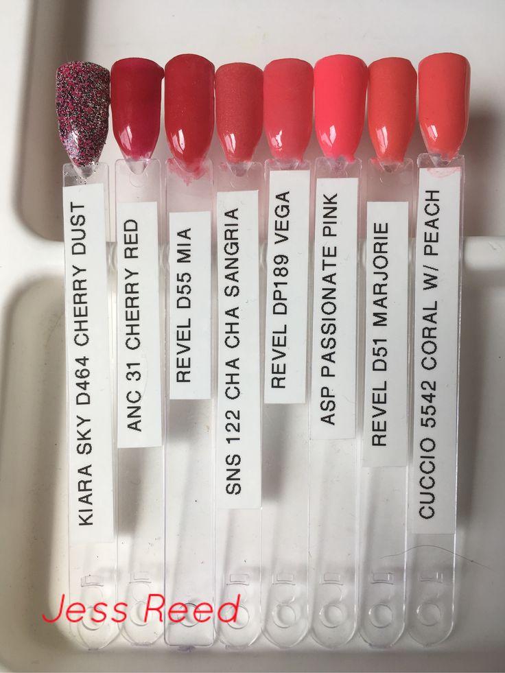Nail Powder: Powder Dip Nails Color Comparison Swatches