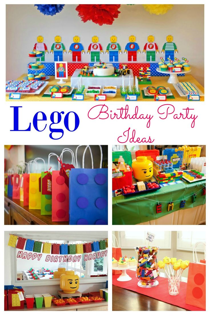 It can be difficult deciding on a party theme, but a boys party theme that they will love is ….. a Lego party!  Stuck for ideas on how to pull this together?  You don't need to be.  A Lego party is fun, bright and full of excitement.  These parties will provide you plenty of inspiration for food, decorations and favors.  Now planning a Lego party will be easy.  I love the Lego bunting in #4!