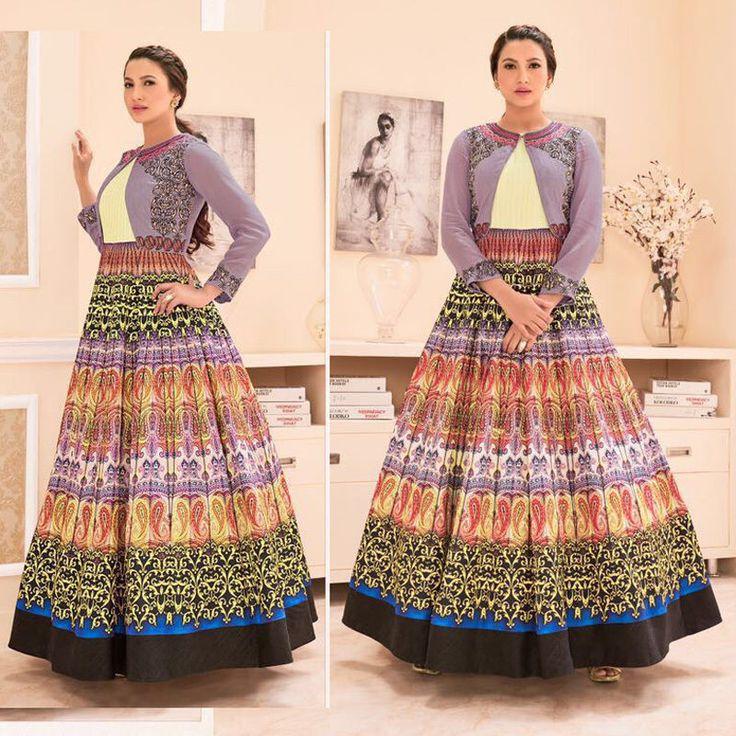 Bollywood Designer Indian Pakistani Asian Wedding Party New Anarkali Salwar Suit #Handmade #AnarkaliSalwarSuit