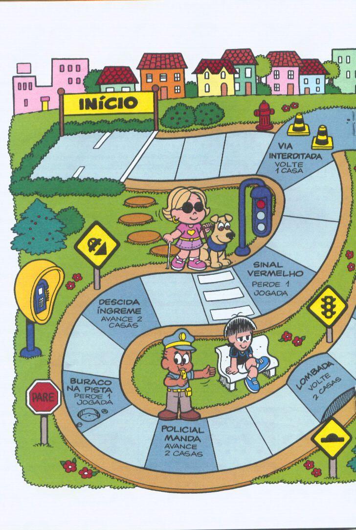 Verkeersspel deel 2, free printable / Coleção-Saiba-Mais-com-a-Turma-da-Mônica-sobre-o-trânsito