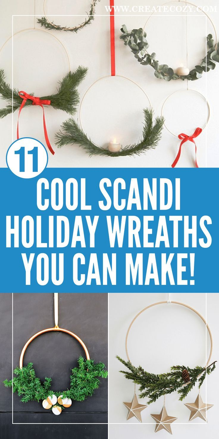 12 ultra modern and minimal holiday wreaths