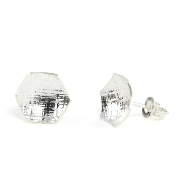 Quilt Studs sterling silver