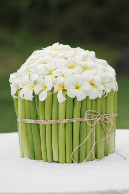 73 best bali weddings images on pinterest bali wedding simple chic frangipani flowers decoration for an offering junglespirit Gallery