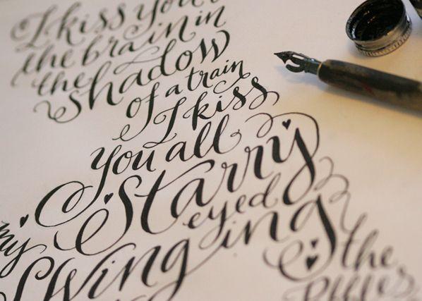 Kate Forrester's lovely calligraphy