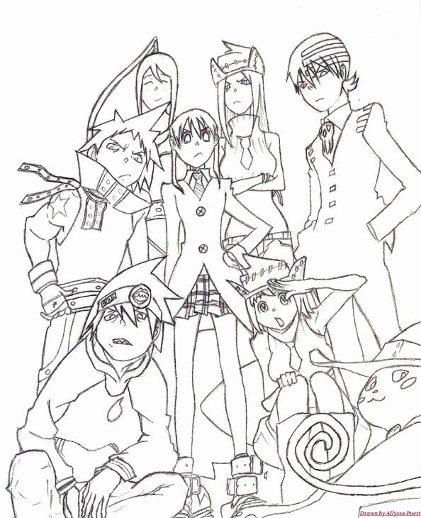 Soul Eater Anime Coloring Pages Printable Popular All Characters From Soul Eater Coloring Page Letscolorit Coloring Pages Cute Coloring Pages Soul Eater