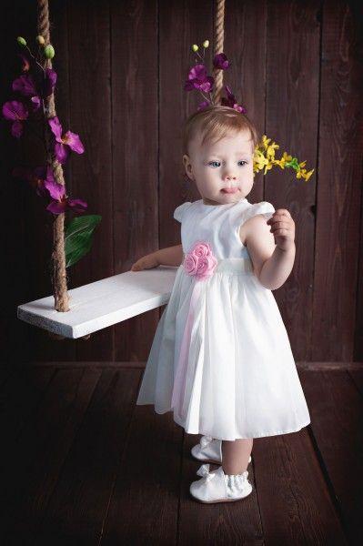 Taufkleid Victoria von HOBEA-Germany  Taufkleid Mädchen Baby Taufe Blumenmädchen - kurzärmeliges edles Taufkleid von HOBEA-Germany  #christening #dress #babygirl