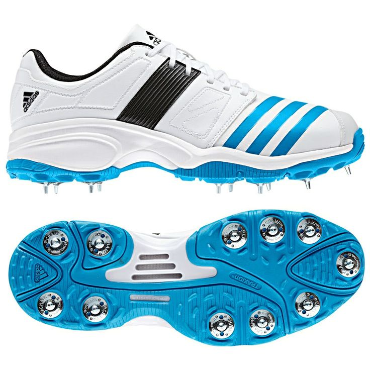 Adidas Howzat Spike Cricket Shoe - 2014 -Designed for superb all round comfort and support. -Performance synthetic upper offering, strength, stability and comfort -adiPRENE midsole for comfort and shock absorption. -11 stud full spike outsole. Removable spikes can be replaced with screw in rubber studs (not supplied).