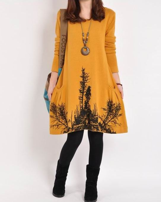 Yellow cotton sweater large size knitted sweater casual loose sweater tops knitwear long women sweater dress plus size sweater cotton blouse on Etsy, $57.90