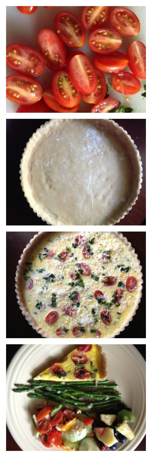 Complete Meal Monday: Tomato & Basil Quiche with Garlic, Shallot, and ...