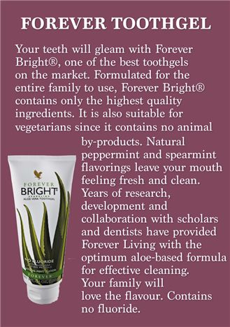 The best toothgel ever!!! Handy Nummer : 0176 82654343 My Aloe Vera Forever Living Shop http://www.be-forever.de/aloevera-wellness-shop/ Please email wellnessemy@outlook.de Sponsors Details Name: Emerita Kaufmann ID Number: 490-000-524-516 http://www.facebook.com/Bambusmassage.
