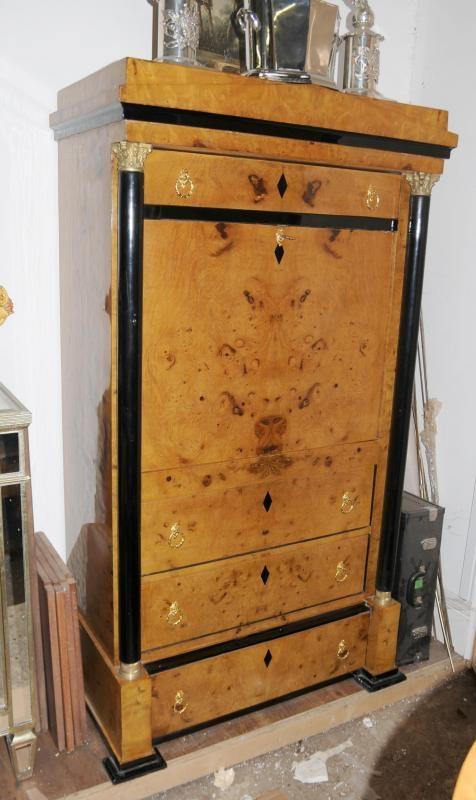 art deco biedermeier secretaire bookcase desk chest drawers cabinet chest drawers pinterest. Black Bedroom Furniture Sets. Home Design Ideas