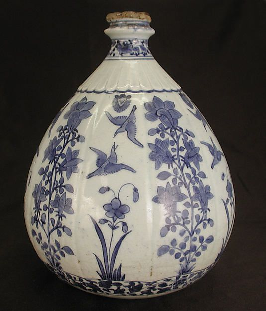 Vase Iran, 17th century. Stonepaste; painted under a transparent glaze. 8 1/2 in. (21.6 cm). Accession Number: 24.47.1. © 2000–2012 The Metropolitan Museum of Art.