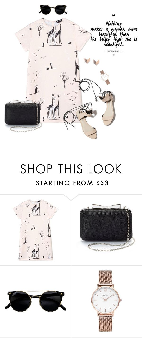 """""""Pretty in pink"""" by blondeshoopaholic on Polyvore featuring moda, Rochas, 3.1 Phillip Lim, La Regale, CLUSE e FOSSIL"""