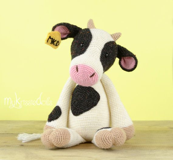 This is a crochet pattern (PDF file) NOT a finished doll you see on the photos! This pattern is available in Dutch and English.    Let me introduce to you: COW!  Because they are such amazing animals!    Thank you for coming by!    Kristel Droog  kristeldroog@gmail.com