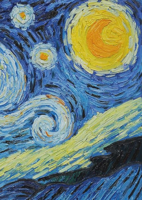 The Starry Night, 1889 by Vincent Van Gogh
