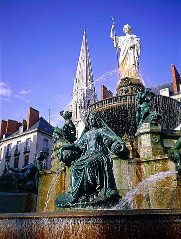 France, Pays De La Loire, Loire Atlantique , Nantes, The Fountain