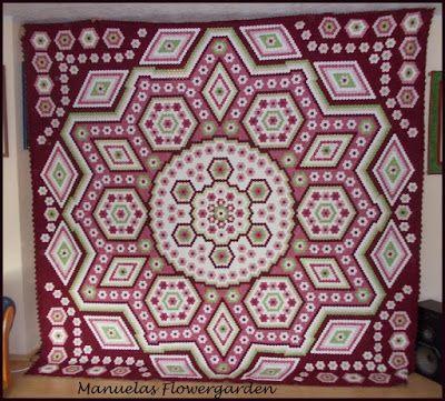 """The Vignette Hexagon Quilt: Finished """"La Passion`s """""""