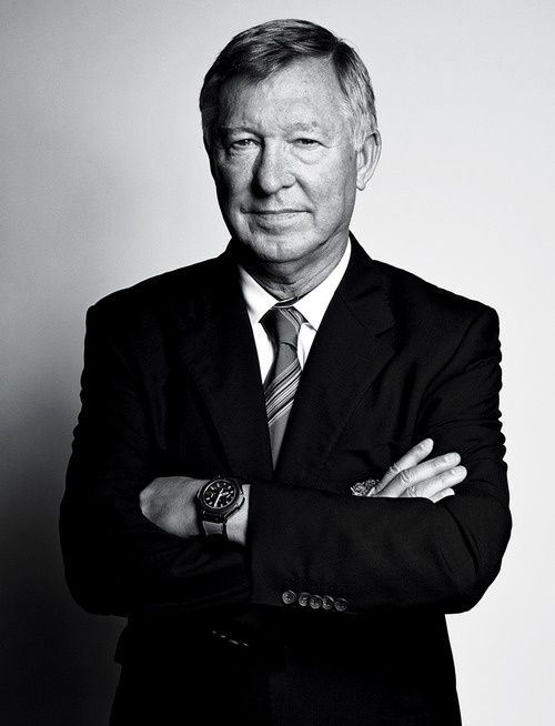i admire sir alex ferguson as a sports fan, as a man utd fan and as a football fan. his loyaly and devotion to the club is incredible, especially in today's day and age, and his drive and passion remains as strong as ever. he works hard to get the most of his players, controlling egos and nurturing talent whilst remaining very much the boss. he is also a lovely guy, taking the time to write a letter to my great grandma for her 90th birthday as she is a huge fan. big love for sir alex…