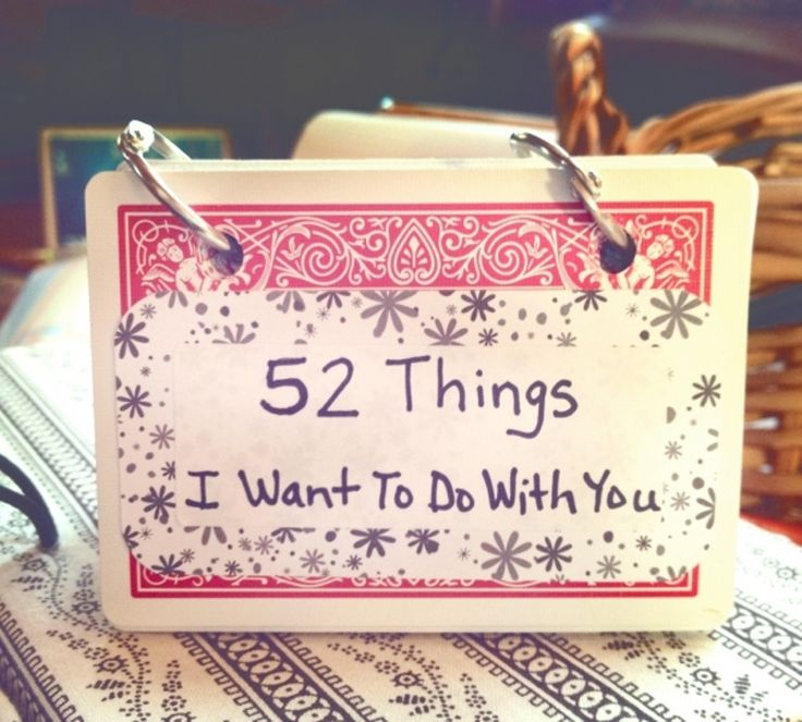 11. #Things I Want to do with You Booklet - 11 DIY Valentine's Day #Gifts for Your Man ... → DIY #Grass