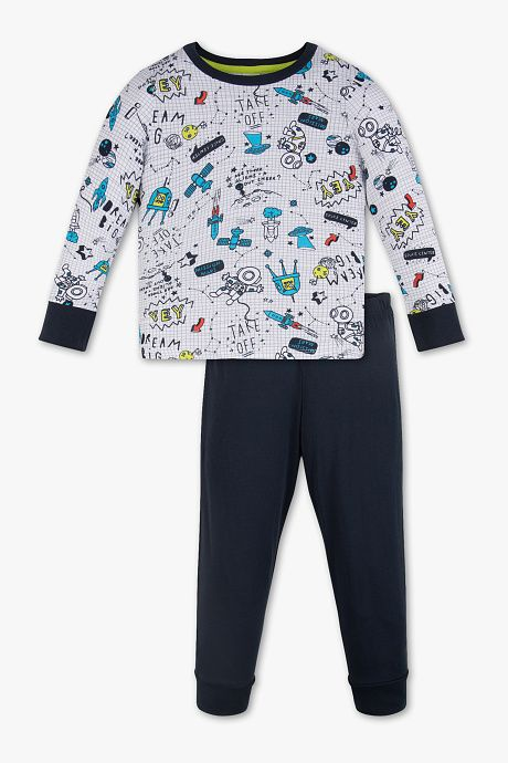 ab1b271609 Niños - Pijama - Algodón orgánico - 2 piezas - multicolor
