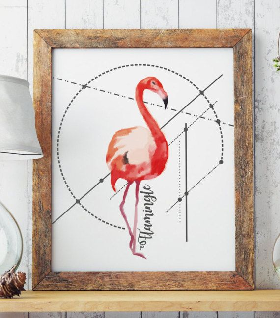 LETS FLAMINGLE! Perfect for your living walls Great gift idea for your friends.  Big resolution of the picture, can be printed on larger formats.  ZuskaArt : artwork | watercolor painting | art prints | canvas art | framed art | canvas painting | watercolour | art prints | art...